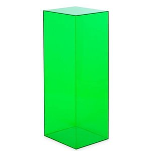 Zuil perspex 35x35x100cm groen