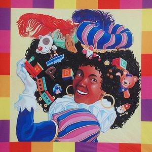 zwart Piet dubbelzijdige kaart
