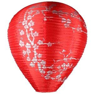 Lampion rood zilver