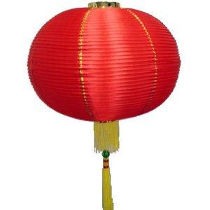 Lampion rood goud
