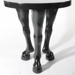 Paardenbeen tafelpoot hoog per 3 wit