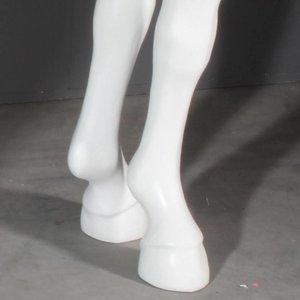 Paardenbeen tafelpoot laag per 4 wit