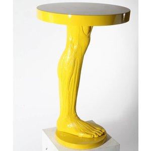 Tafel geel mensen been rond