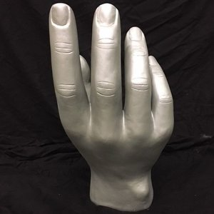 Hand open zilver grijs XXL