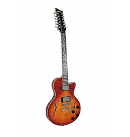 DIMAVERY DIMAVERY LP-612 E-Guitar, flamed sunburst