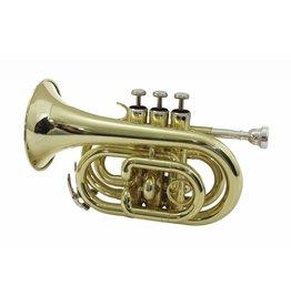 DIMAVERY DIMAVERY TP-300 Bb Pocket Trumpet, gold