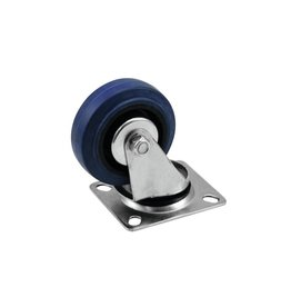 ACCESSORY Swivel castor 75mm blue