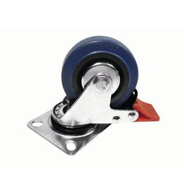 ACCESSORY Swivel castor 75mm with brake blue