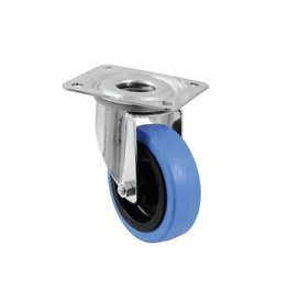 ACCESSORY Swivel castor 100mm BLUE WHEEL light blue