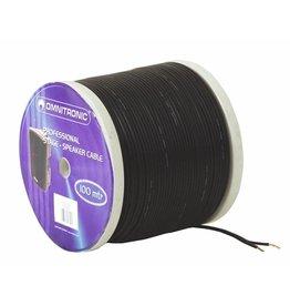 OMNITRONIC OMNITRONIC Speaker cable 2x0.75 100m bk NYFAZ