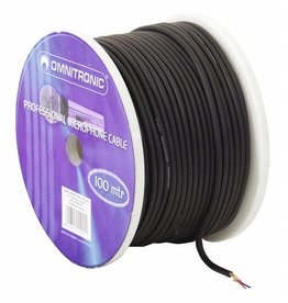 OMNITRONIC OMNITRONIC Microphone cable 2x0.22 100m bk + plugs
