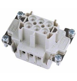 ILME ILME Socket insert 6-pin 16A, screw terminal