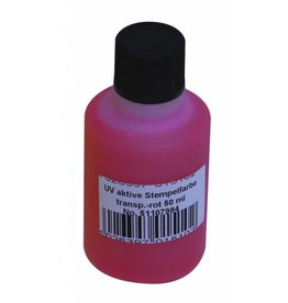 EUROLITE EUROLITE UV-active stamp ink, transp. red, 50ml