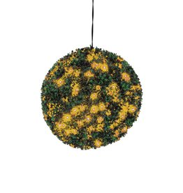EUROPALMS EUROPALMS Boxwood ball with orange LEDs, 40cm
