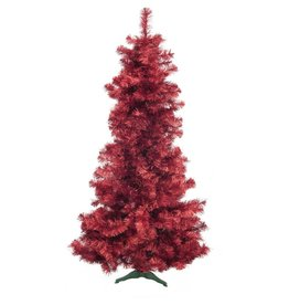 EUROPALMS EUROPALMS Fir tree FUTURA, red metallic, 210cm