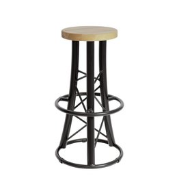ALUTRUSS ALUTRUSS Bar stool, curved black