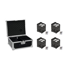 EUROLITE EUROLITE Set 4x AKKU UP-4 QCL Spot QuickDMX + Case