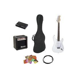 DIMAVERY DIMAVERY EGS-10X electric guitar set, white