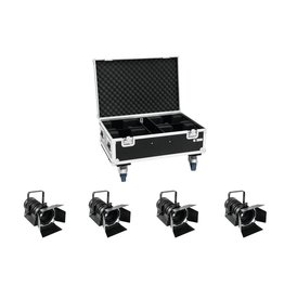 EUROLITE EUROLITE Set 4x LED THA-40PC bk + Case