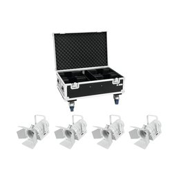 EUROLITE EUROLITE Set 4x LED THA-40PC wh + Case