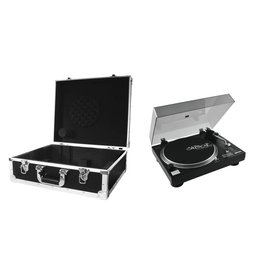 OMNITRONIC OMNITRONIC Set DD-2520 USB Turntable bk + Case black -S-