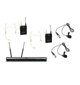 Relacart RELACART Set UR-260D Bodypack with Headset and Lavalier