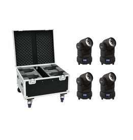 EUROLITE EUROLITE Set 4x LED TMH-X1 Moving-Head Beam + Case
