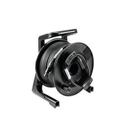 PSSO PSSO DMX cable drum XLR 50m bk Neutrik 2x0.22