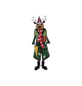 EUROPALMS EUROPALMS Reindeer with Coat, Metal, 155cm, green