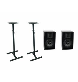 OMNITRONIC OMNITRONIC Set 2x ARM-6.5 studio monitor + 2x MO-1 stand