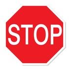 stop sticker