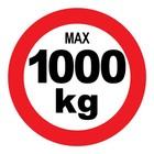 max 1000 kg sticker