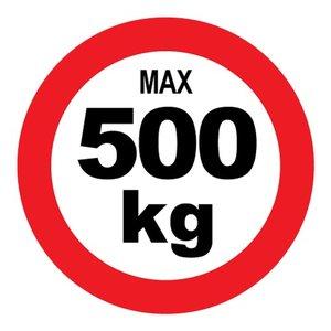 "pictogram ""max 500 kg"" sticker"