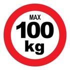 max 100 kg sticker