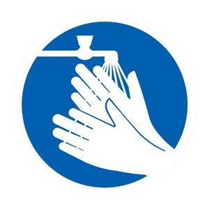 """pictogram """"handen wassen verplicht"""" sticker"""