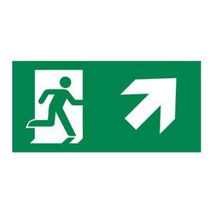 Nooduitgang sticker Vluchtwegaanduiding trap op rechts