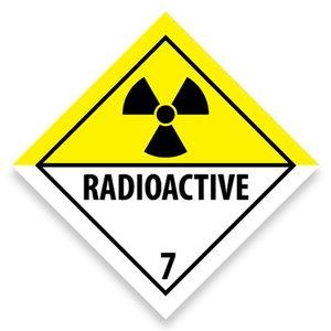 """ADR-7 pictogram """"radioactieve stoffen"""""""