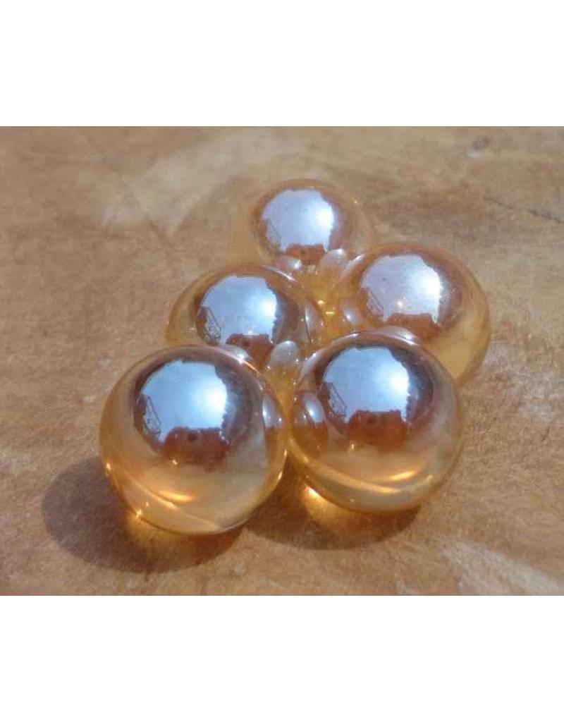 Interchangeable gemstone Golden Aura 12 mm