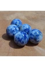 Interchangeable gemstone Sodalite blue 12 mm