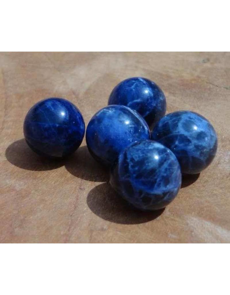 Interchangeable gemstone Sodalite dark blue 12 mm