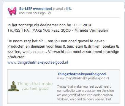 be-LEEF! FB post 2014