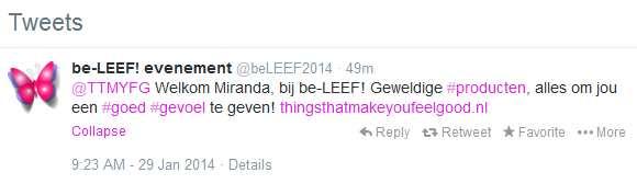be-LEEF! twitter 2014