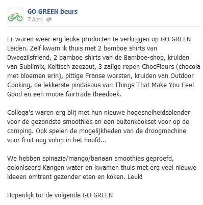 Go Green FB post