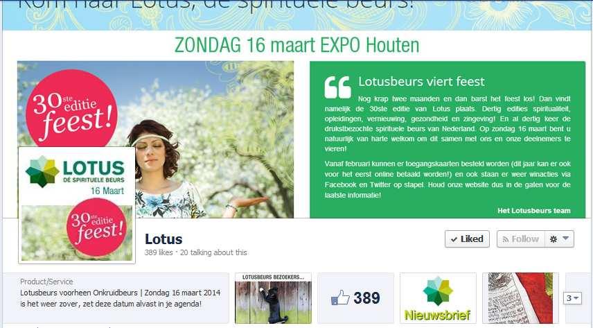 Lotus beurs facebook 2014