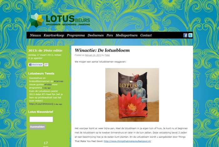 Lotusbeurs 2013