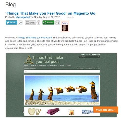 Magento Go blog Augustus 2012