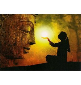 ZintenZ postcard Buddha light