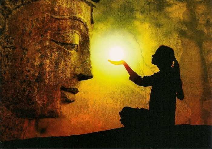 zintenz postcard buddha light
