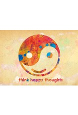 ZintenZ postkaart Think happy thoughts