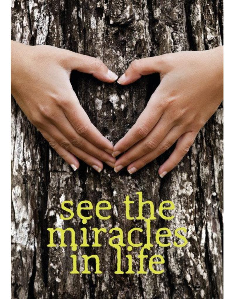 ZintenZ postcard See the miracles in life